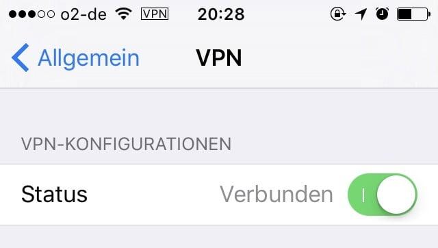 iOS VPN Switch