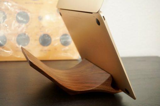 yohann macbook stand walnut