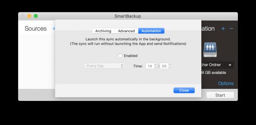 smartbackup automation