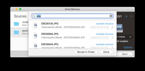 smartbackup wiederherstellung