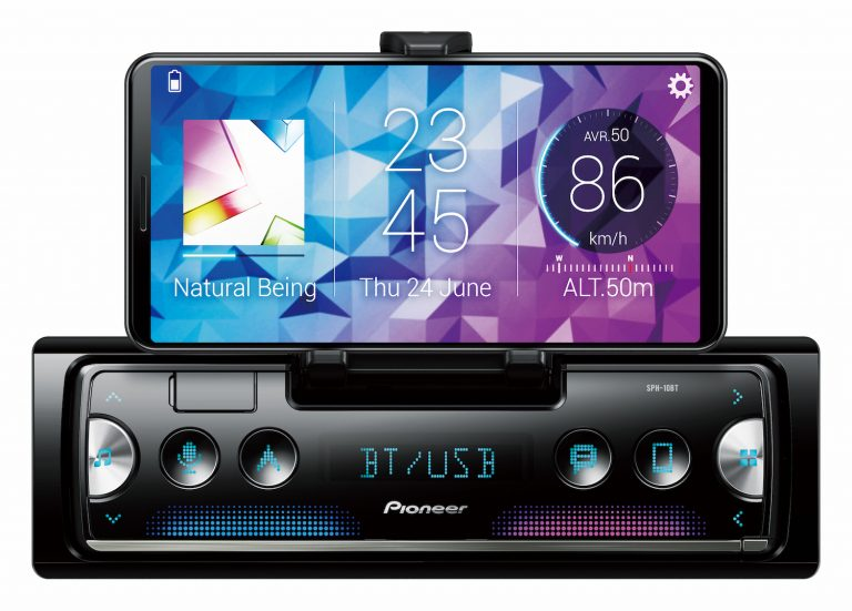 Pioneer SPH-10BT car radio uses iPhone as display