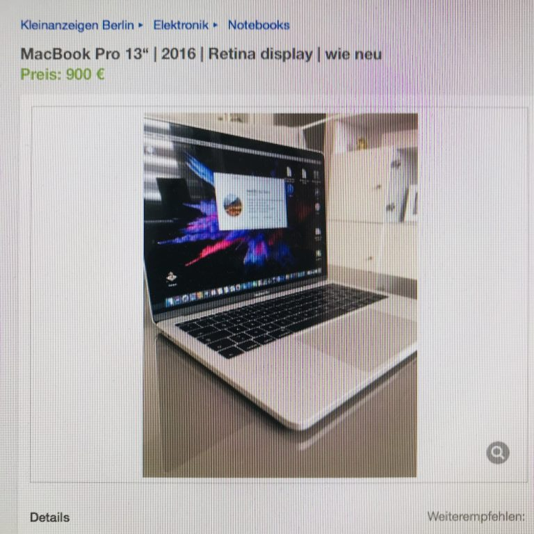 2019: The Ideal Bargain MacBook is a Used Pro from 2016