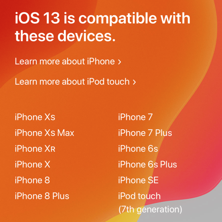 iOS 13 drops support for iPhone 6, 5s and iPad 2, 3