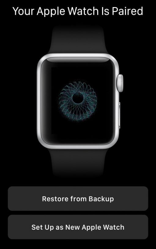 your apple watch is paired