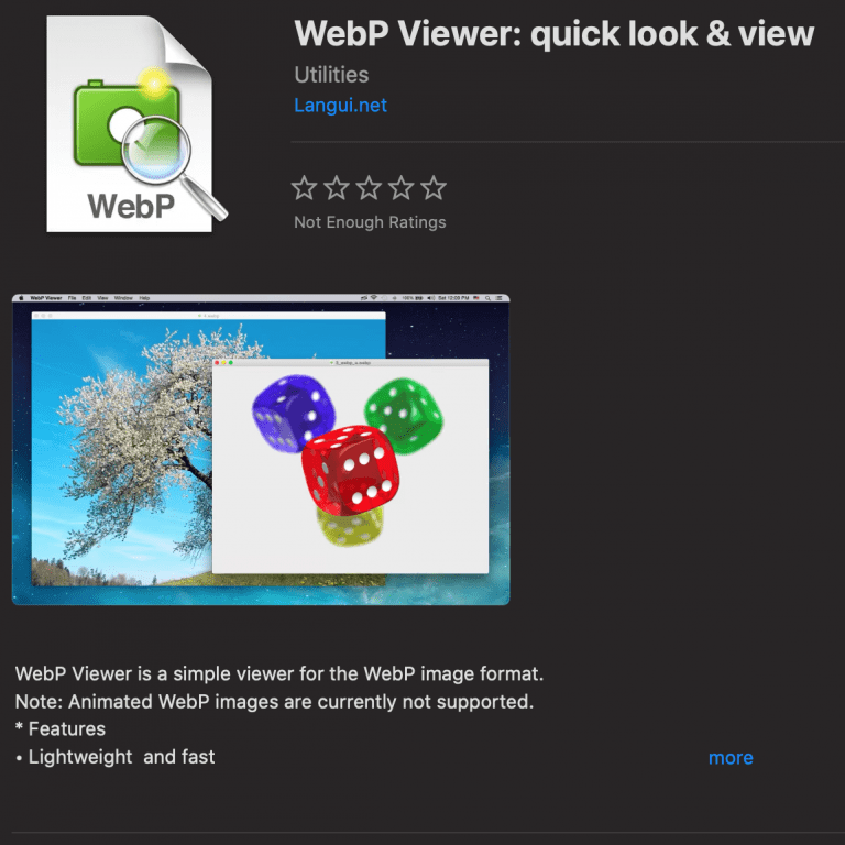 Show WebP images under macOS