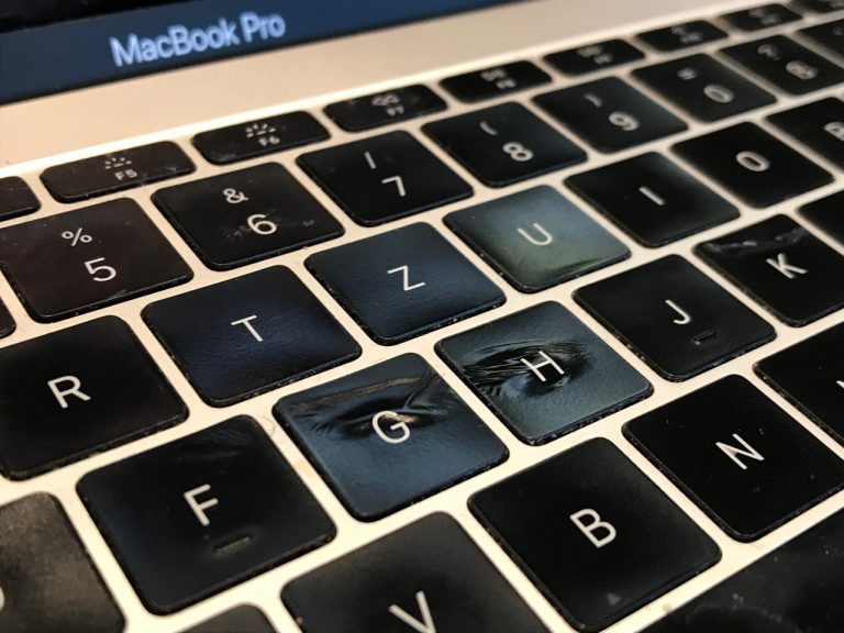 MacBook Pro with melted keys