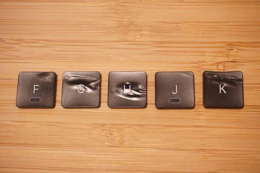 melted macbook pro keys