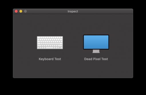 Inspect Mac Test Software