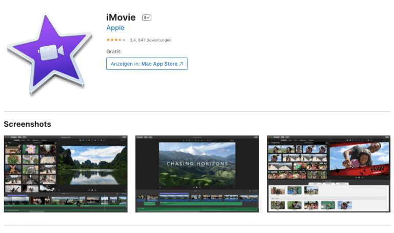 iMovie for iOS and macOS with new filters
