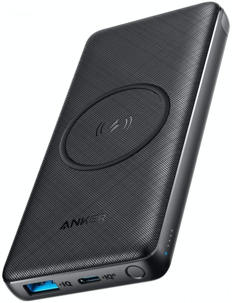 Anker Powerbank with integrated Qi Wireless Charger