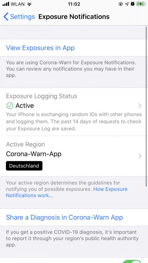 Exposure Notifications iOS 13.7