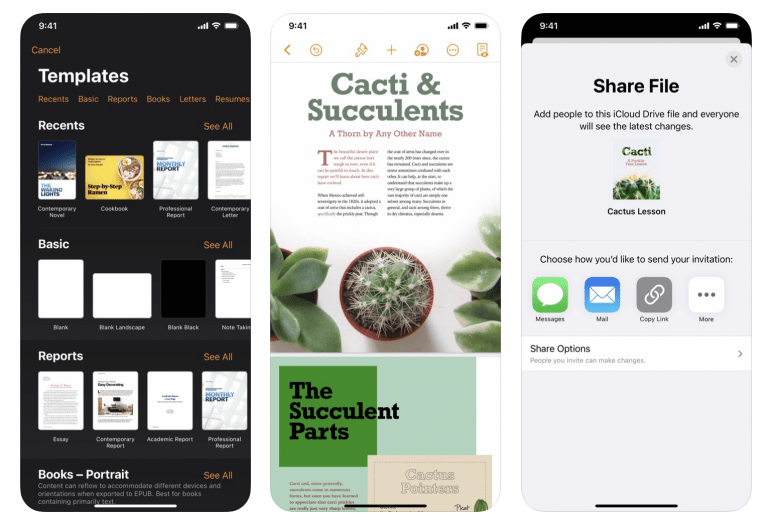 Pages, Numbers and Keynote Updates