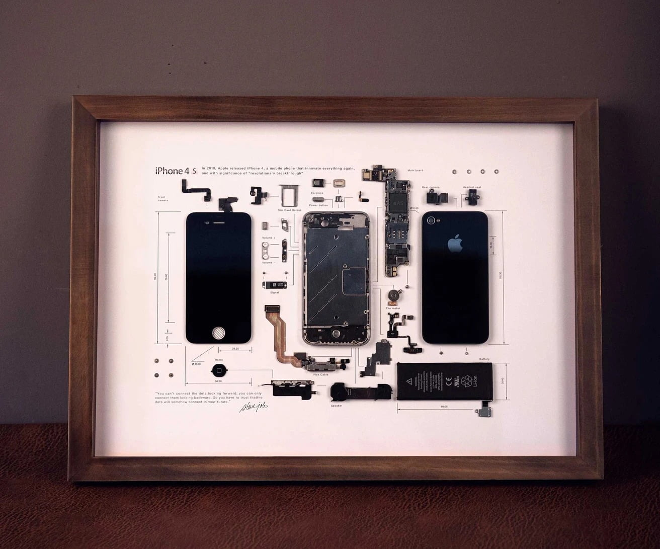 GridStudio iPhone 4S Art Piece Framed