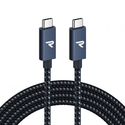 RAMPOW E Mark 100W USB C to USB C Cable 6ft 4K 20Gbps USB 3.2 Type C Cable