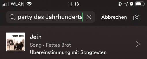 Spotify Lyric Search