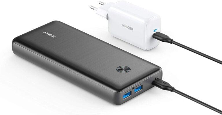 USB-C battery + charger: Anker PowerCore III Elite 25600