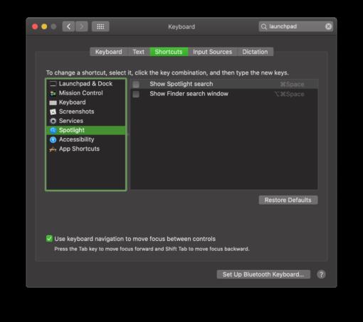 Spotlight Shortcut macOS
