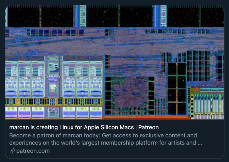 Patreon project to bring Linux to the M1 Mac
