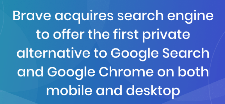 Brave becomes search engine as well as browser