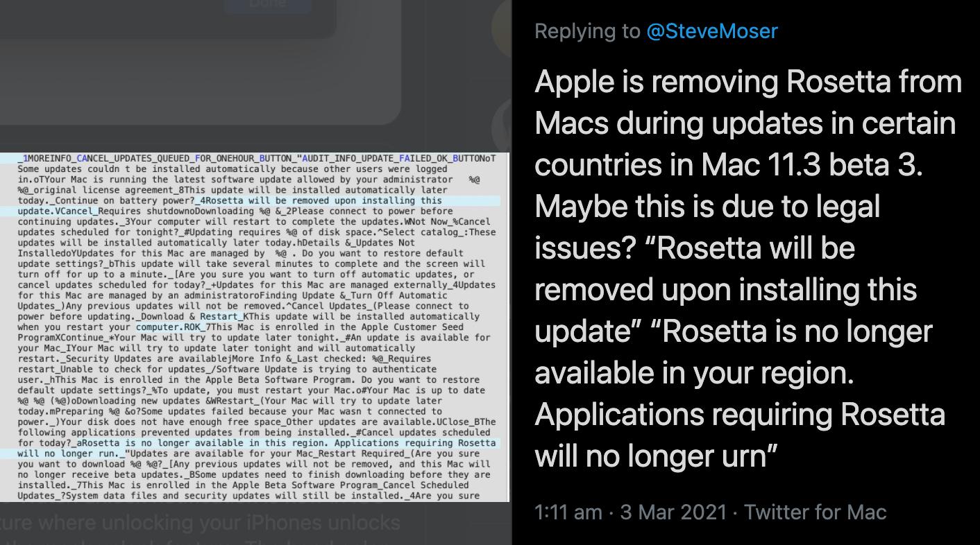Twitter Rosetta 2