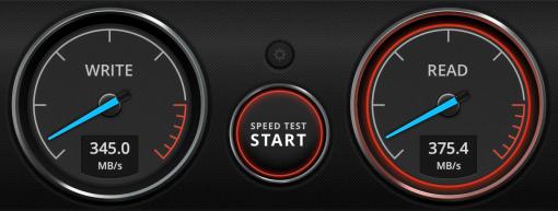 single SSD speed