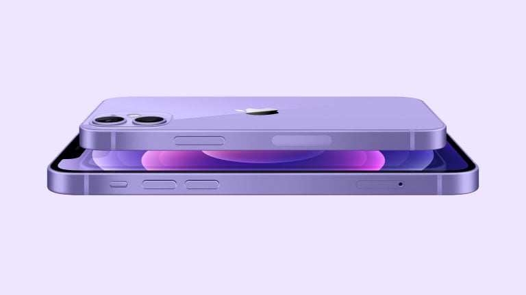 iPhone 12 in candy purple