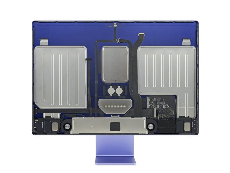 ifixit shows M1 iMac 24″ from inside