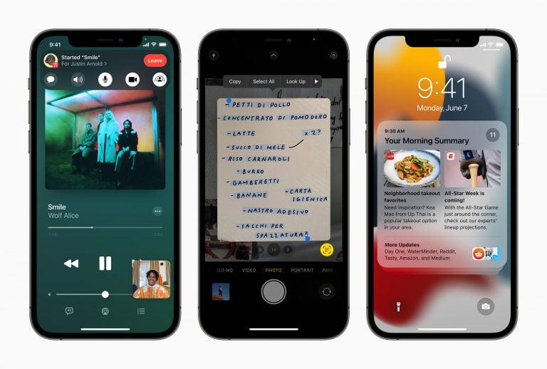 iOS and iPadOS 15