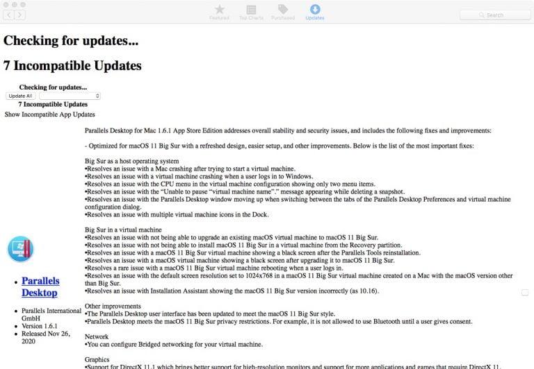 App Store Update page looks weird – 10.13 High Sierra