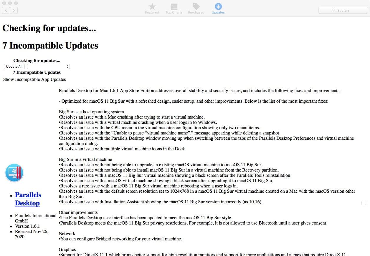 High Sierra Update page looks strange