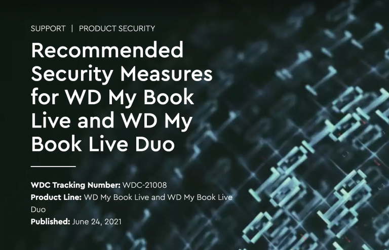Warning: Unplug WD My Book Live, WD My Book Live Duo!
