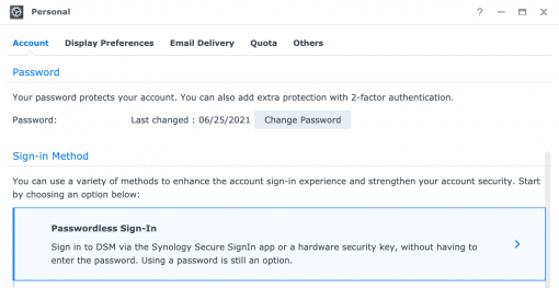 2 DSM 7 Passwordless Sign in