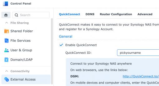 5 DSM 7 QuickConnect