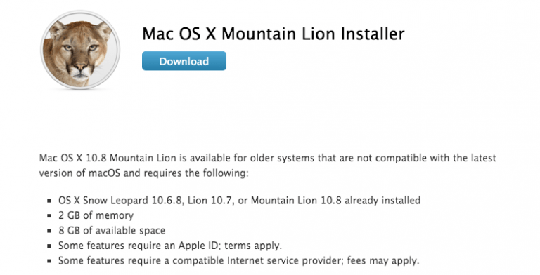 Mac OS X Lion and Mountain Lion as a free download