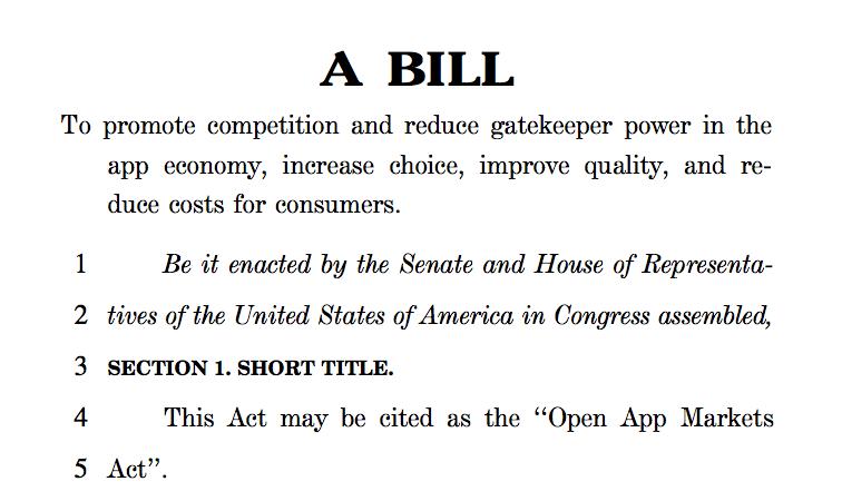 US Senators Introduce Bill for Alternative App Stores
