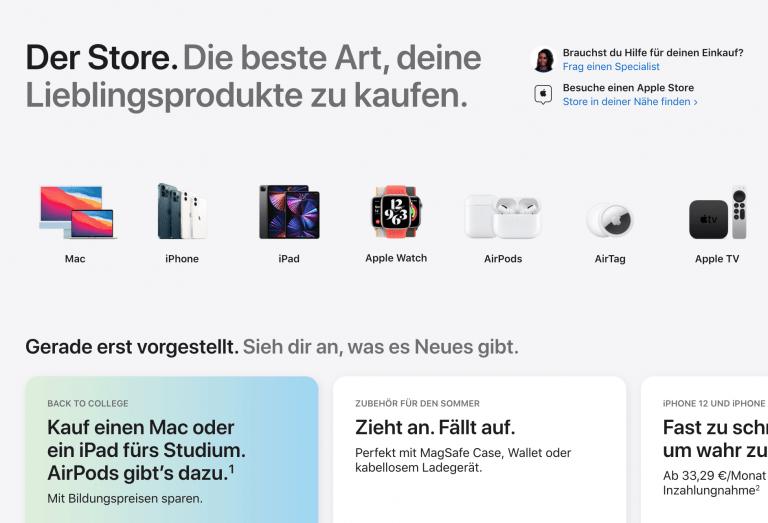 The full Apple Online Store is back