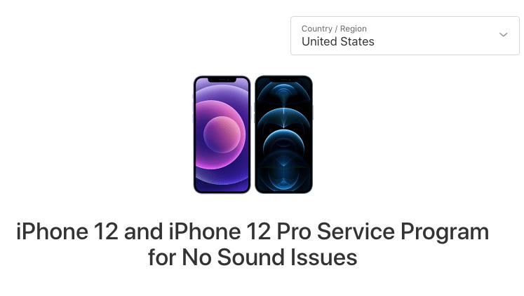 iPhone 12 earpiece defective, no sound: repair program